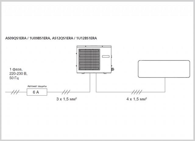 Электросхема по кондиционерам Aqua